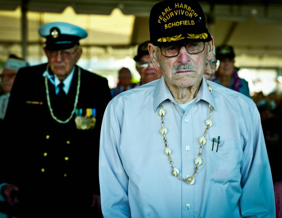 Photo taken at the 70th anniversary ceremony for Pearl Harbor in 2011