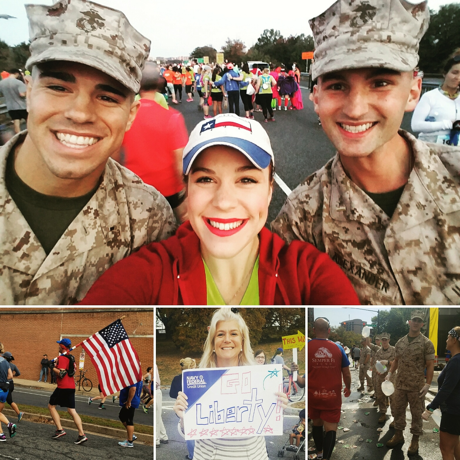 Highlights from Liberty's Marine Corps Marathon.