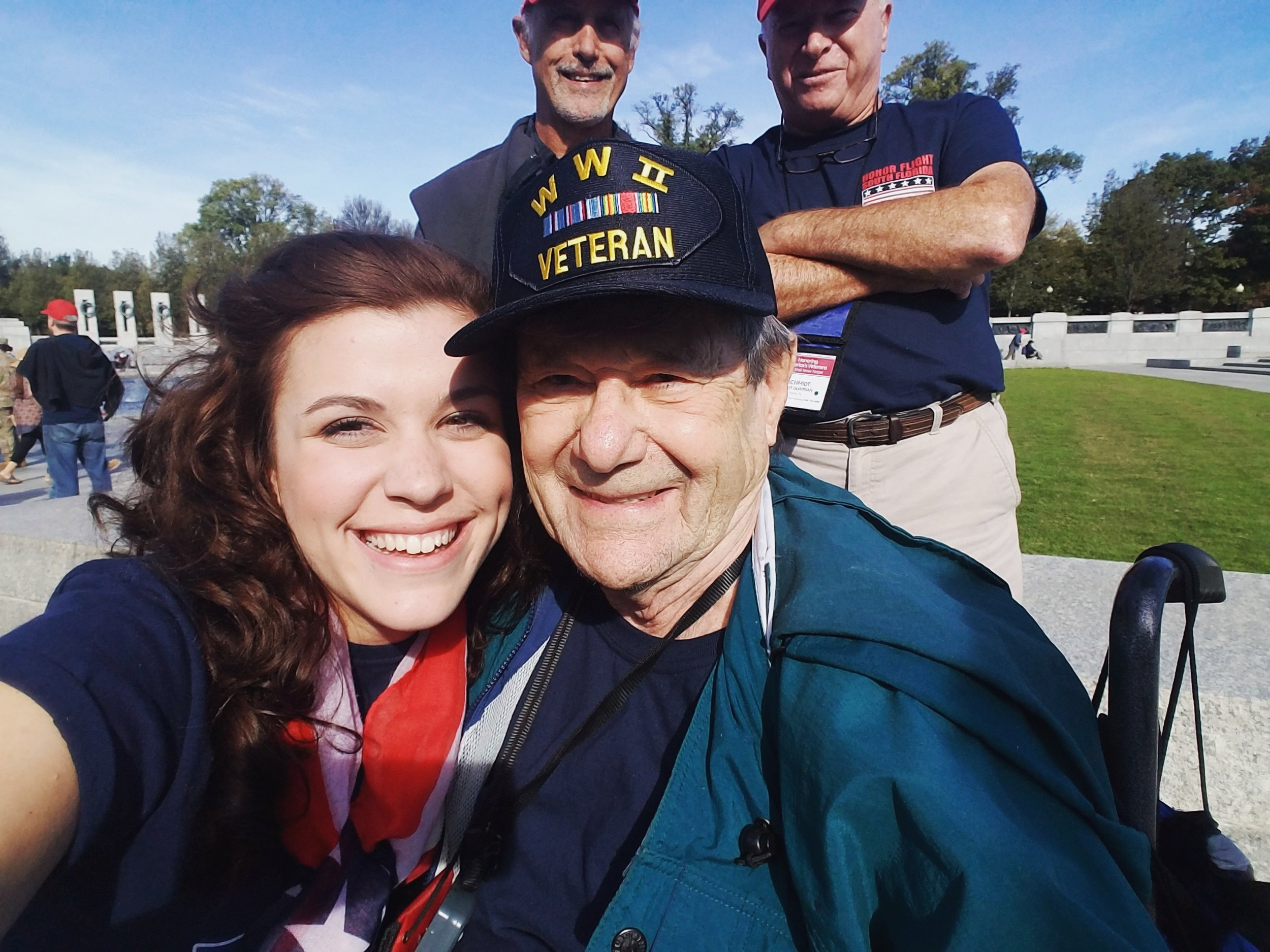 Honor Flights at the WWII Memorial.
