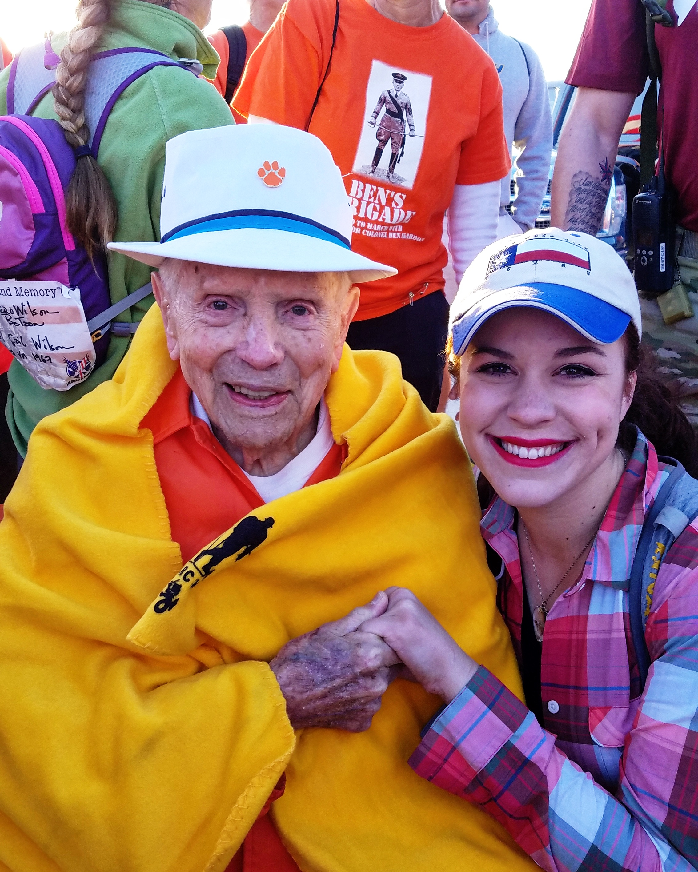 Probably my favorite photo from this week. I can't describe the honor it was to march with Colonel Ben Skardon on my great-great uncle's behalf during the Bataan Memorial Death March. Truly a once in a lifetime experience.