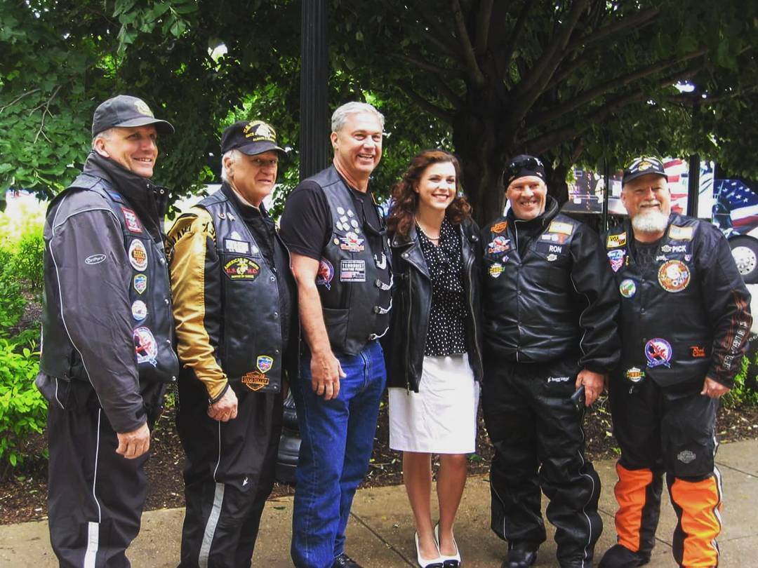 "The ""BWI Brownies."" Motorcycle escort for many of the Honor Flights that come into D.C. Don was a faithful member of this great group of fellas. It was so good to see them all again."