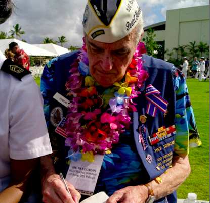 Pat Duncan  February 22, 1923 - July 13, 2015  Navy - USS Raleigh CL-7  Pearl Harbor