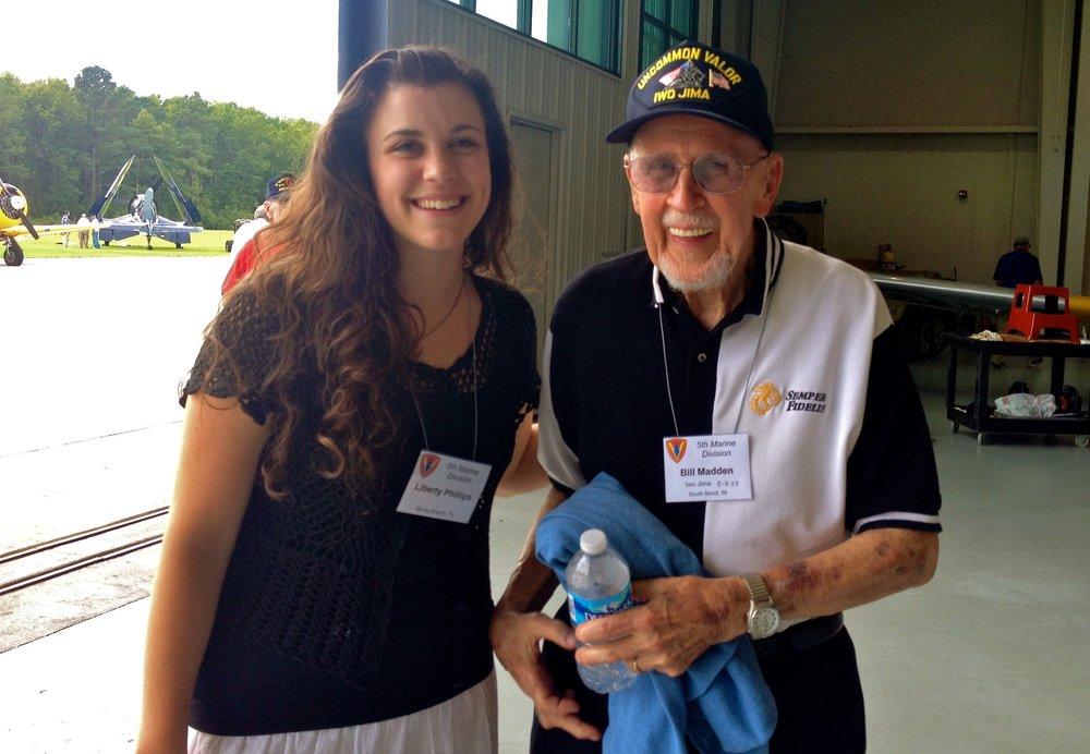 """William """"Bill"""" Madden  February 18, 1926 - November 1, 2016  Marine Corps  Iwo Jima"""