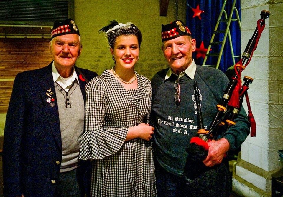 "Robert ""Bob Douglas (left)  February 13, 2017  6th Bn Royal Scots Fusiliers  Normandy - Germandy"