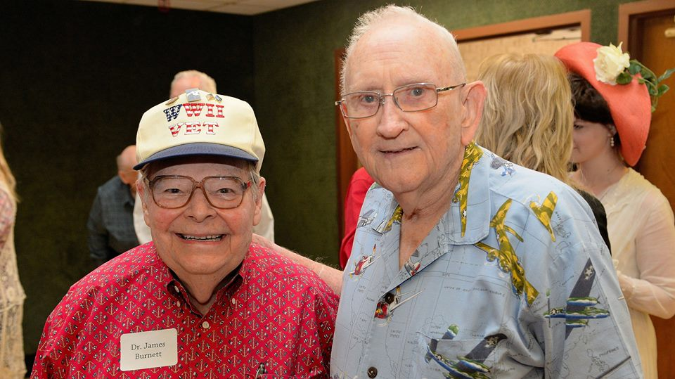 George Mohr (right)  July 24, 1927 - October 30, 2017  Army Air Corps - WWII