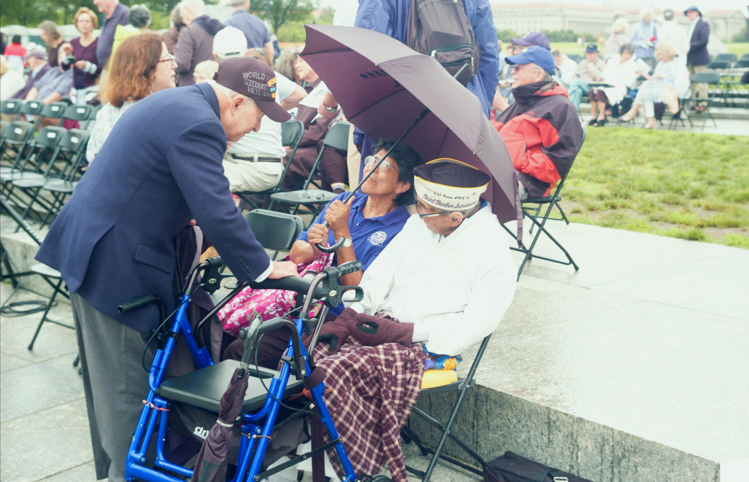 Regardless of rain and a stiff wind, 106 year-old