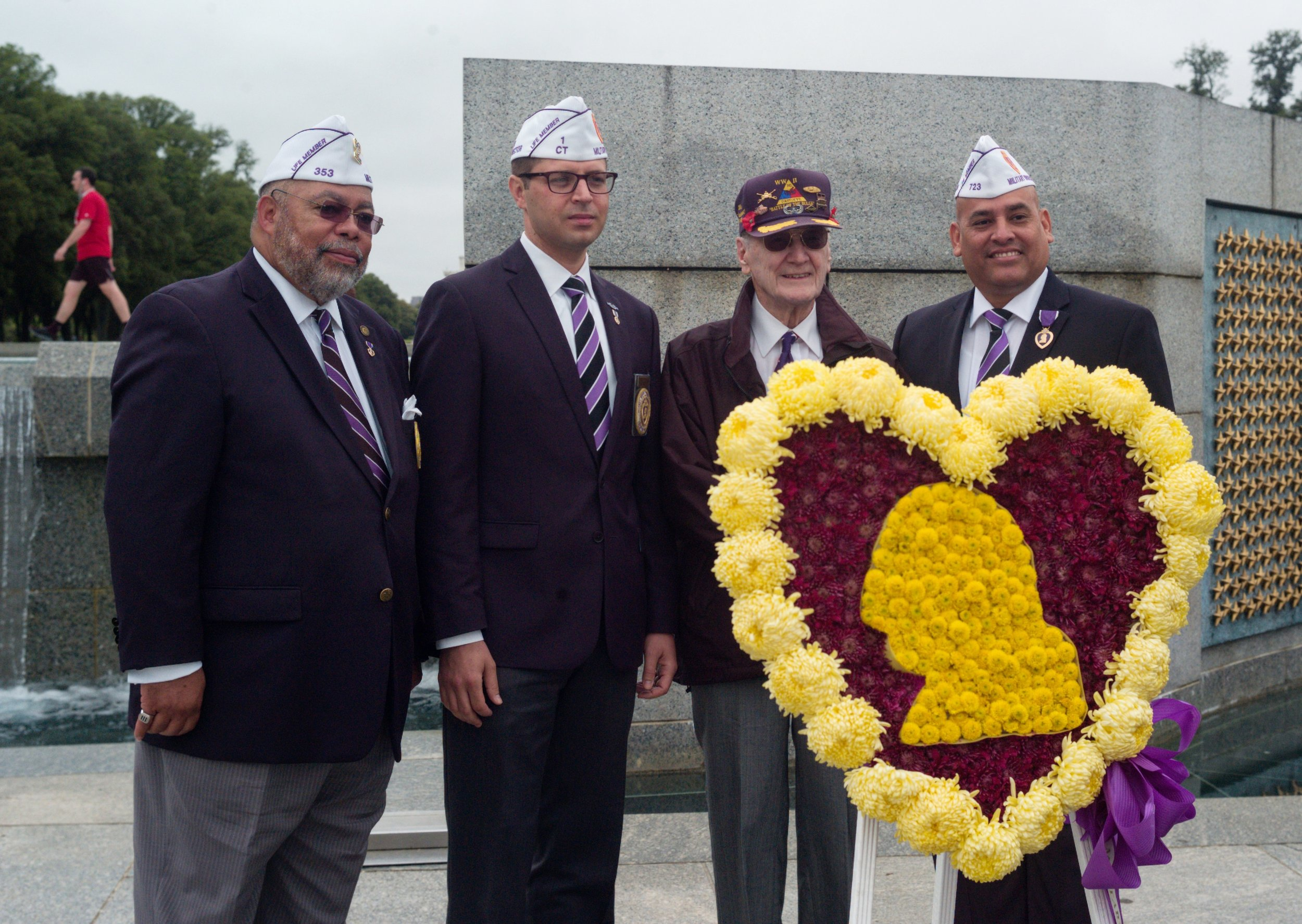 Representatives from the Military Order of the Purple Heart