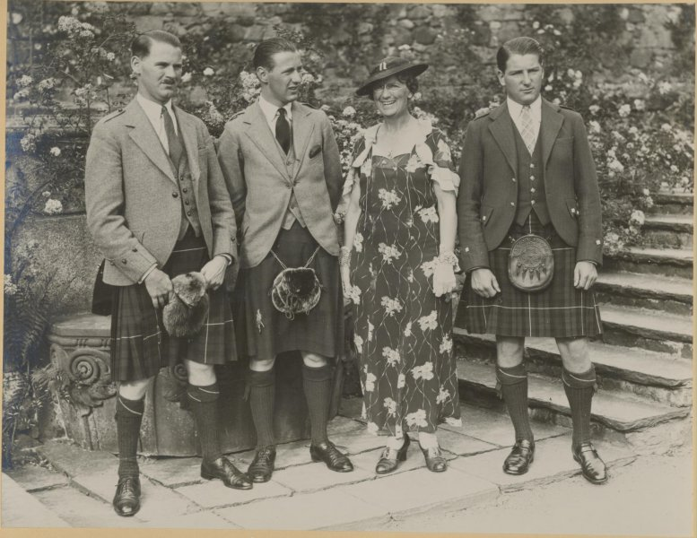 Lady MacRobert and her three sons.
