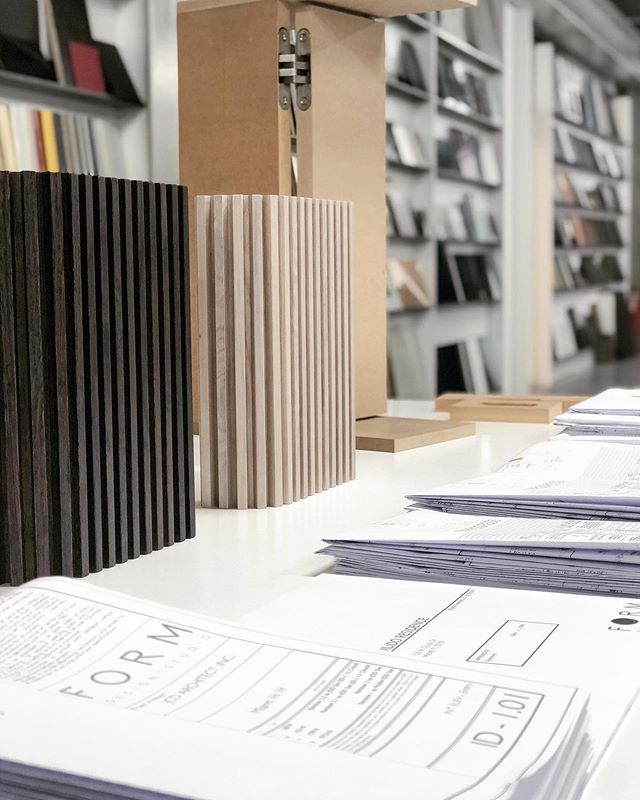 #ingoodFORM: ...and miles to go before I sleep: #shopdrawings, finishes, and mock-ups as far as the eye can see.  There are no lengths to which we will not travel to bring our clients the very best.  We are lucky and honored to work with such esteemed professionals on our #Miami project. #italiansdoitbetter #stackandstacks #titansofindustry