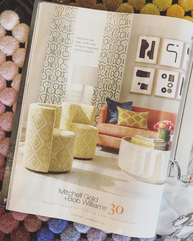 #ingoodFORM: you know, when you're picking poms for custom rugs and find your artwork for @mgbwhome in @elledecor magazine.  #thatkindofday 😊🙏🏼💙