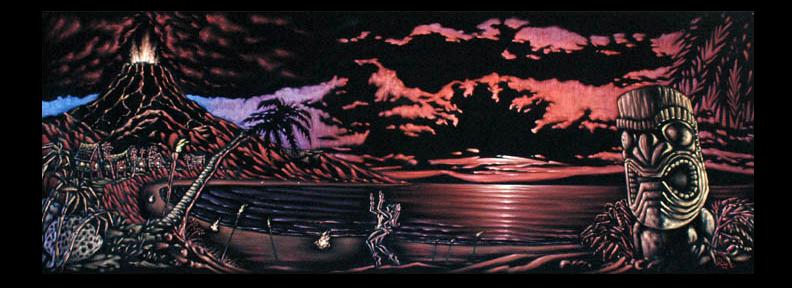 Hele Pele Integrated Velvet Mural
