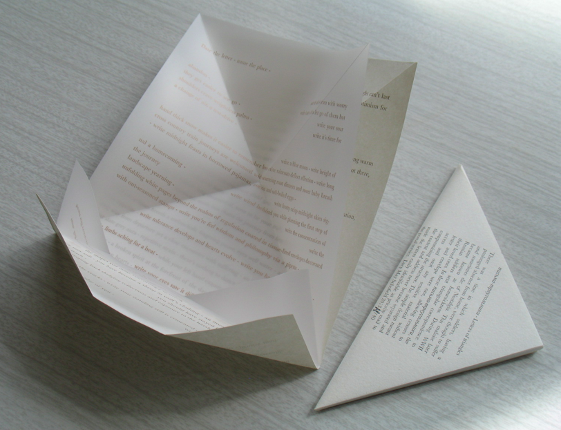 2013. LucyMaySchofield. Letters of Triangles.