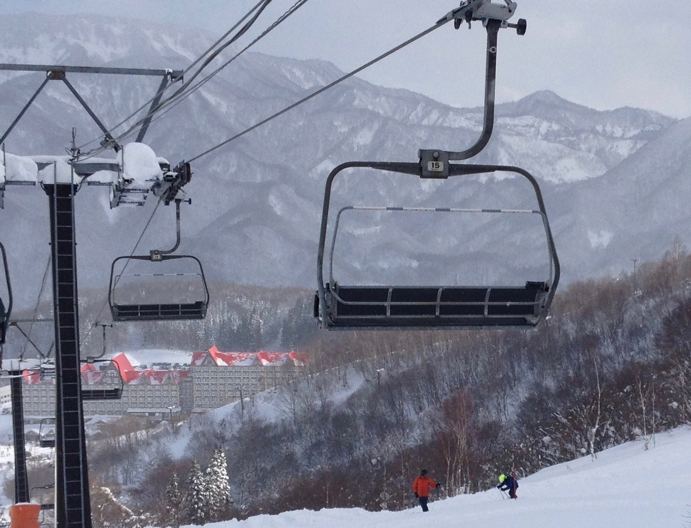 Cortina is one of the ski areas within Hakuba, with the Austrian style hotel below