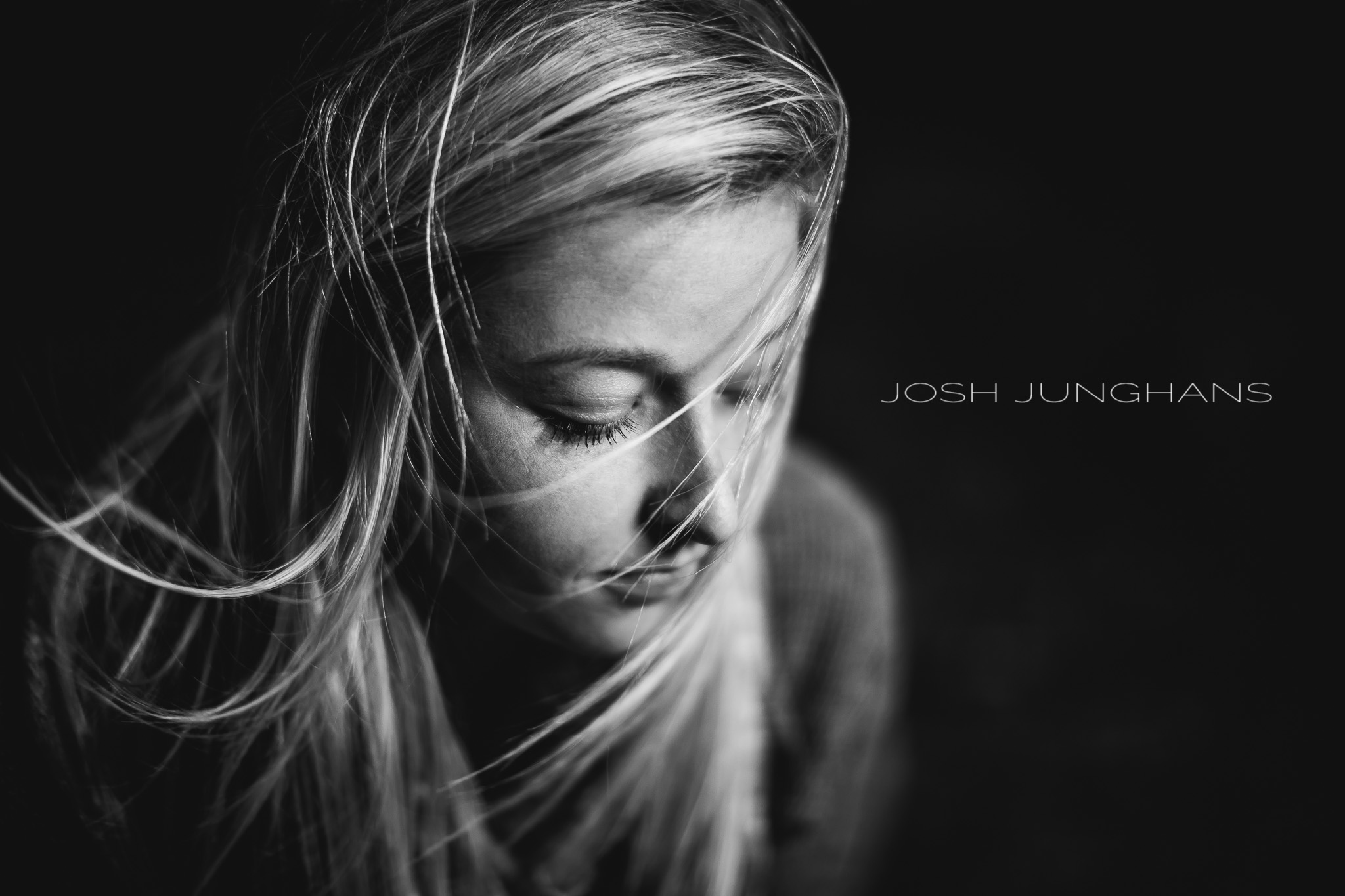 Josh Jungans - speedlight in socked beauty dish - 50mm - 1/500 - f1.2 - ISO 200   www.joshjunghansimages.com     www.facebook.com/joshjunghansimages     My friend Josh shot this image while shooting a senior session out in Kansas. The weather was not super great, and they thought about postponing the shoot. Instead they used it to their advantage and with the help Off Camera Flash (OCF) created an amazing set of senior images. Click  here  for the full shoot.