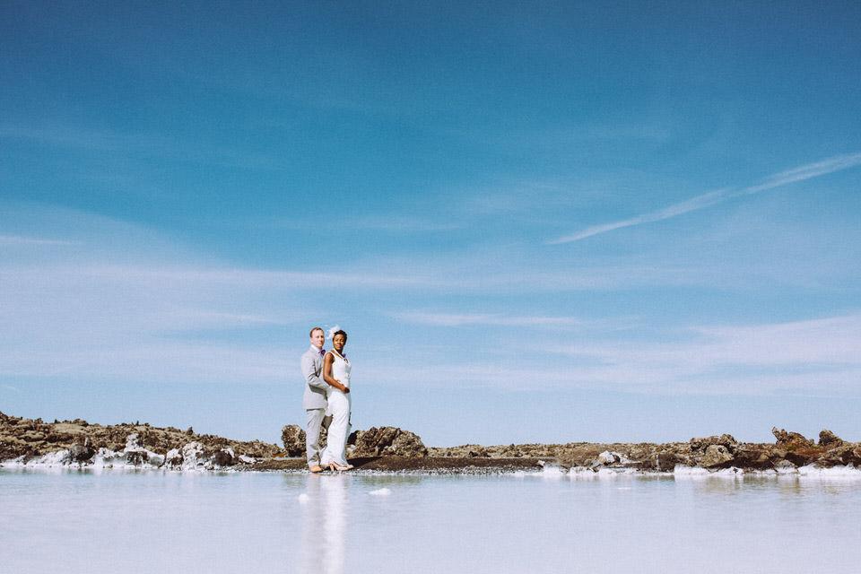 Iceland Blue Lagoon Elopement Reflection