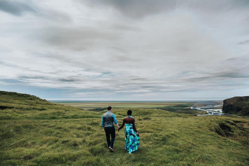 Iceland couples photos Skógafoss