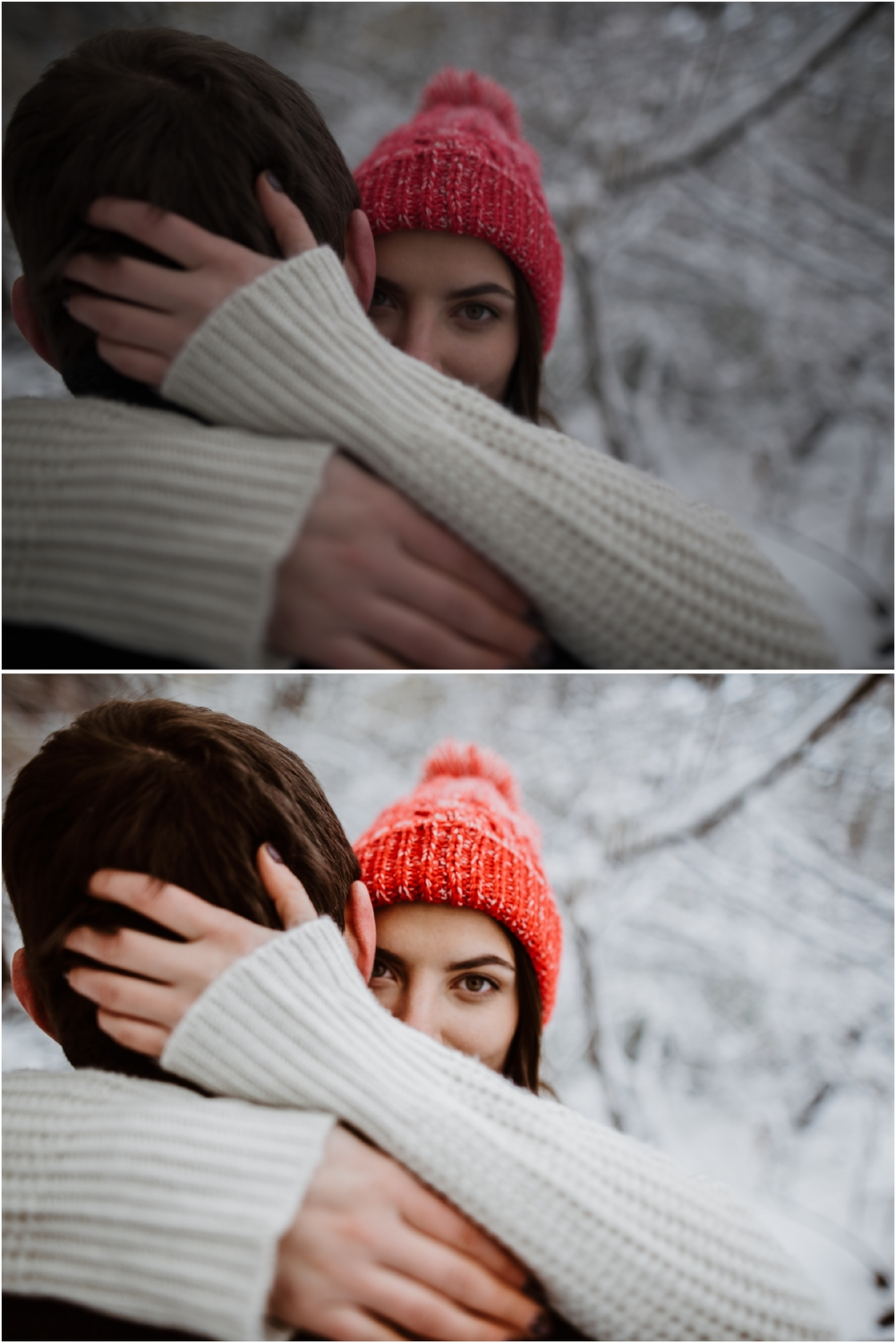 Boulder Colorado Couples photos before and after