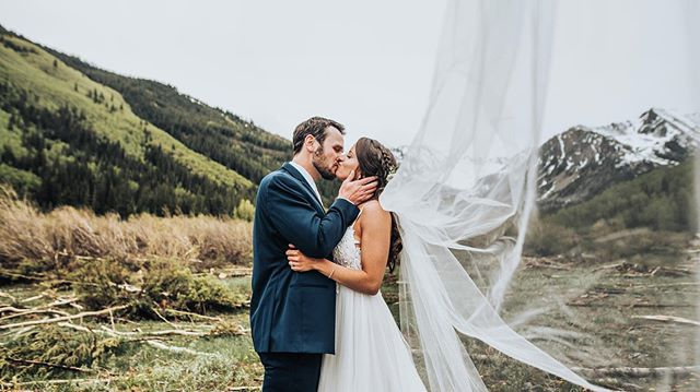 Well yesterday was rad.  This was an hour before a snow storm covered the valley.  In Colorado. In June.  Congrats Channing and Brent!!!