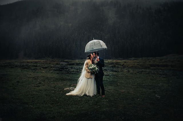 Just a little moody preview from @channingcjohnson & @bcjohnson33 Aspen Wedding.  When the rain turned to snow in June.