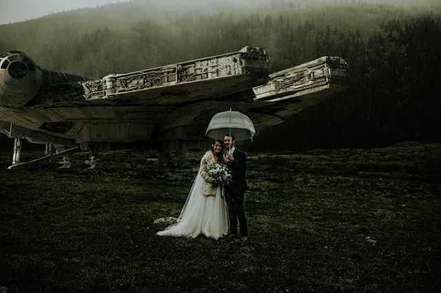 Brent didn't remember the Millennium Falcon Landing behind them... I said it was because he only had eyes for his lady. #disneypleasedontsueme