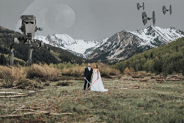 Another #starwars one from @channingcjohnson & @bcjohnson33's wedding.  #disneypleasedontsueme