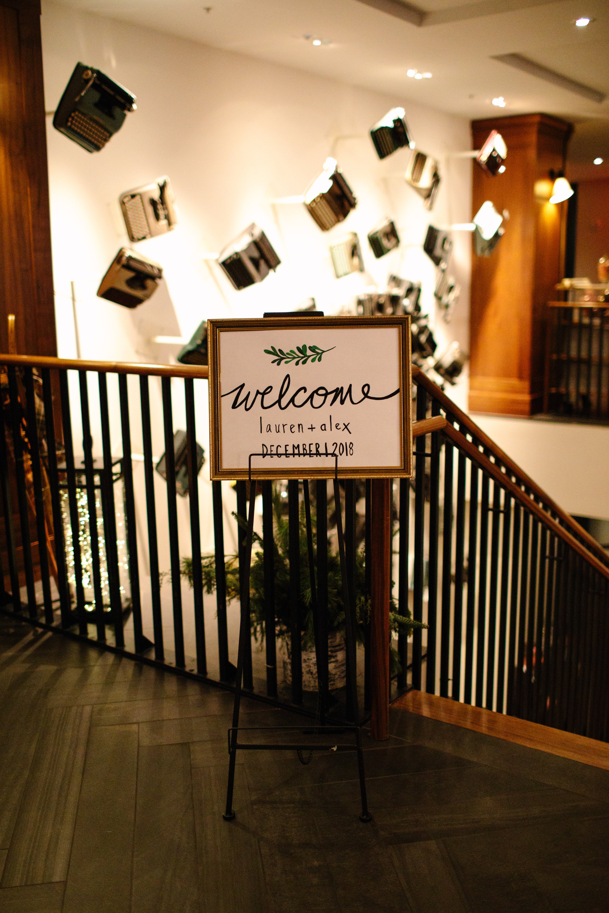 press-hotel-wedding-welcome-sign