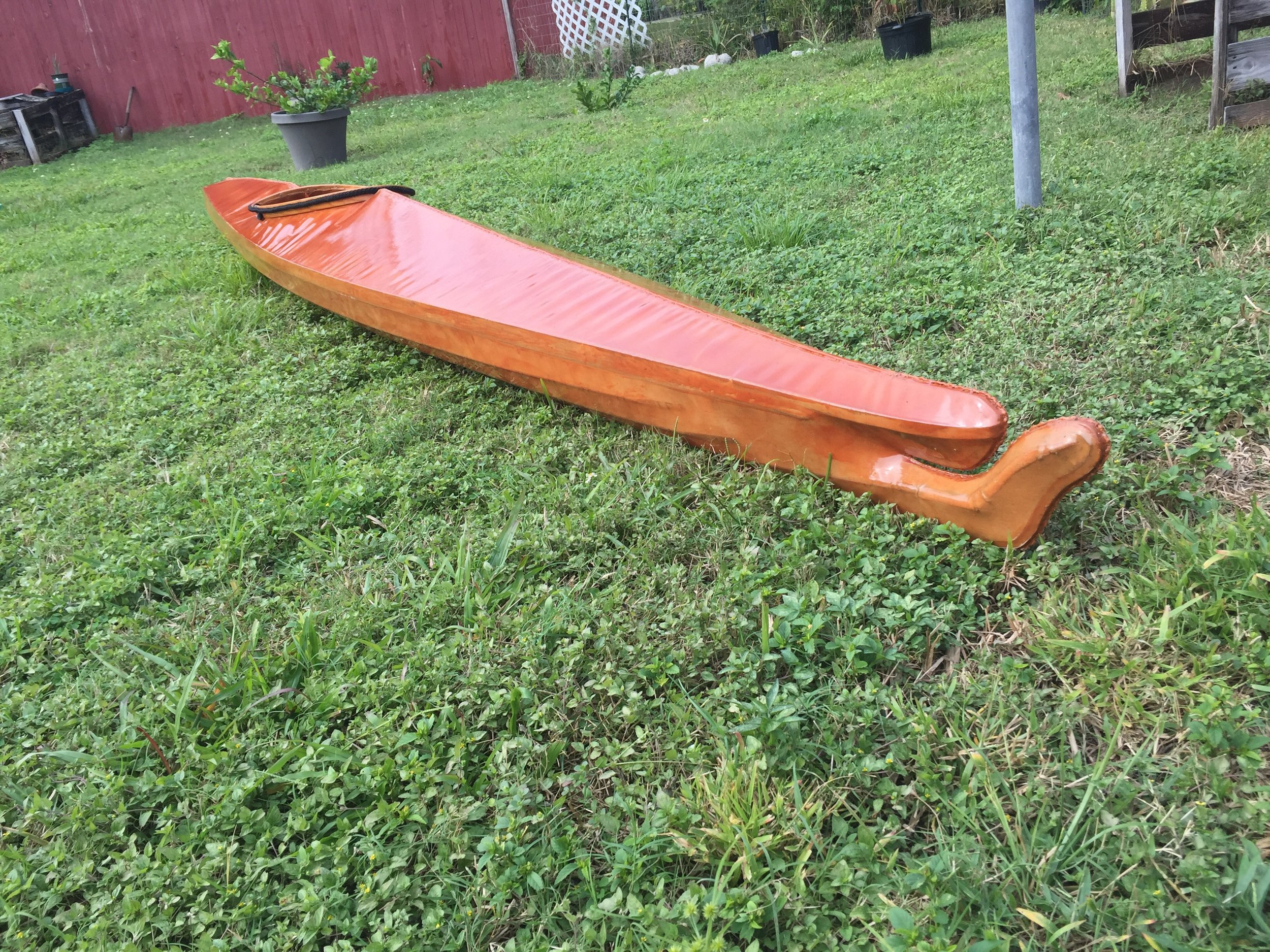 Beautiful Baidarka: Used a handful of times and comes with a paddle and custom dry bags all handmade and in good condition. $1500 OBO. E-mail sales@FloridaKayak School.com for more photos. Located in Cape Canaveral Florida. Text 607 220 6092