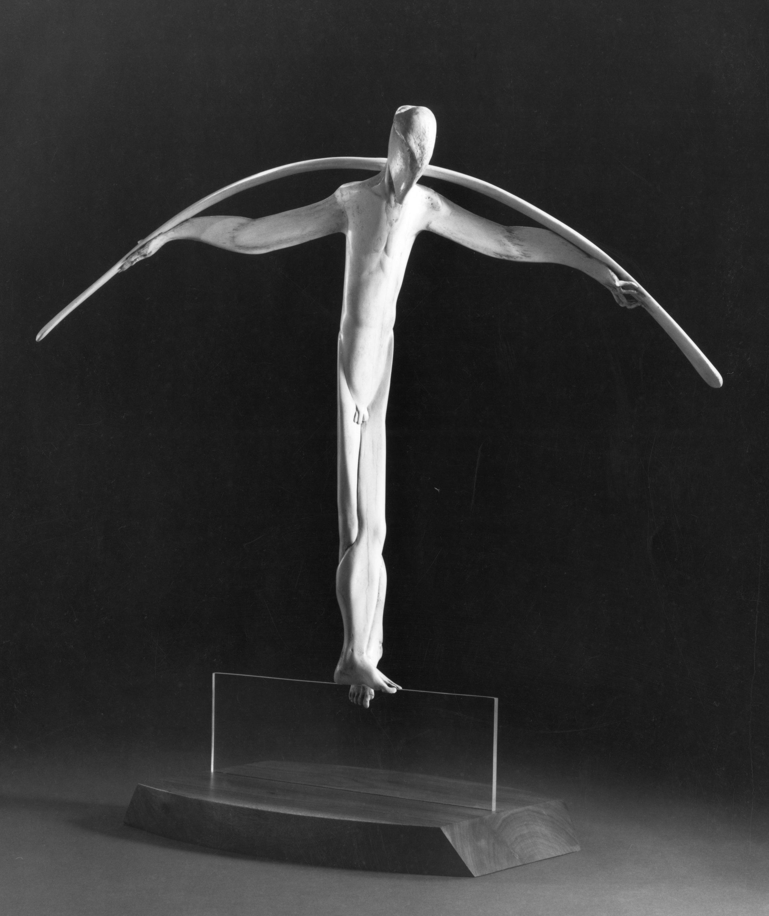The Tightrope Walker - Bone Sculpture by Jerry Hardin