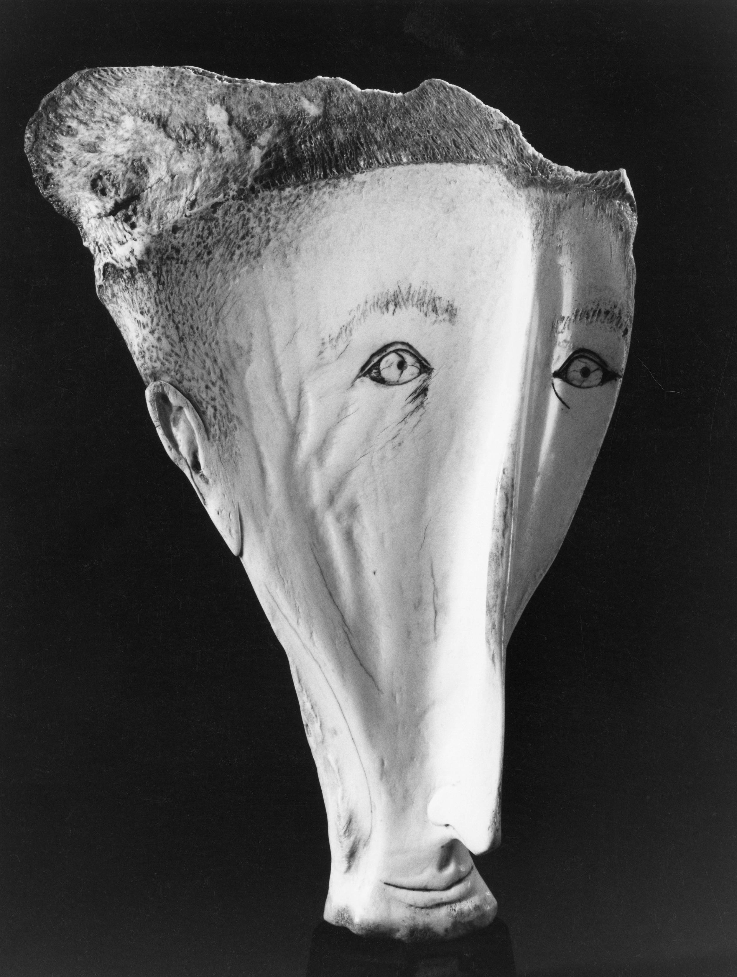 Portrait - Bone Sculpture by Jerry Hardin
