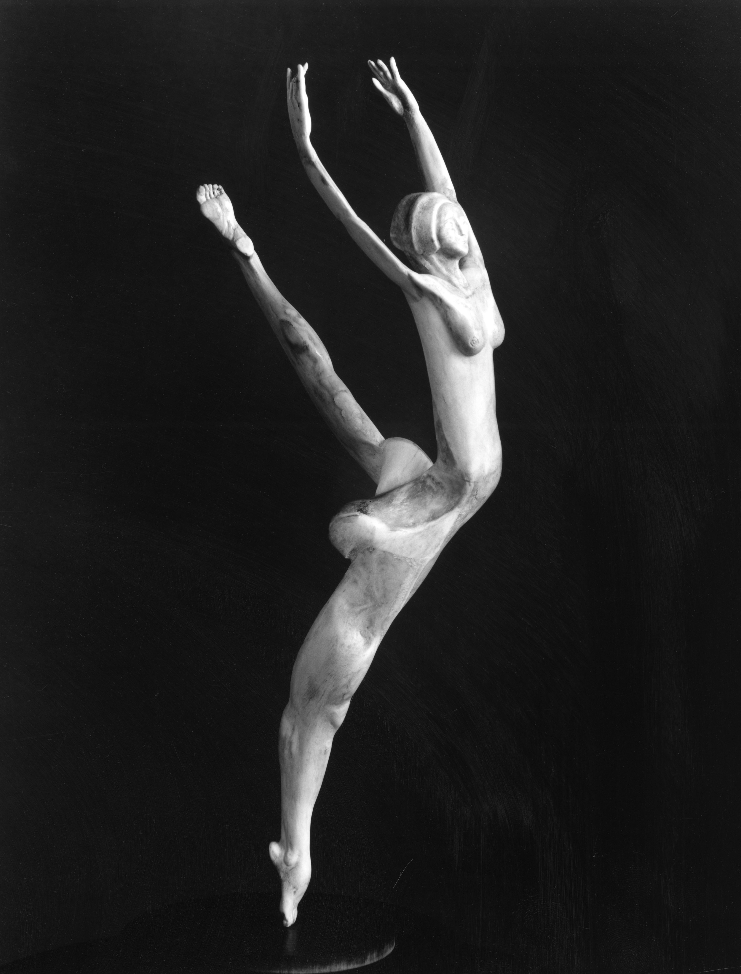Arabesque - Ballet Dancer Bone Sculpture by Jerry Hardin