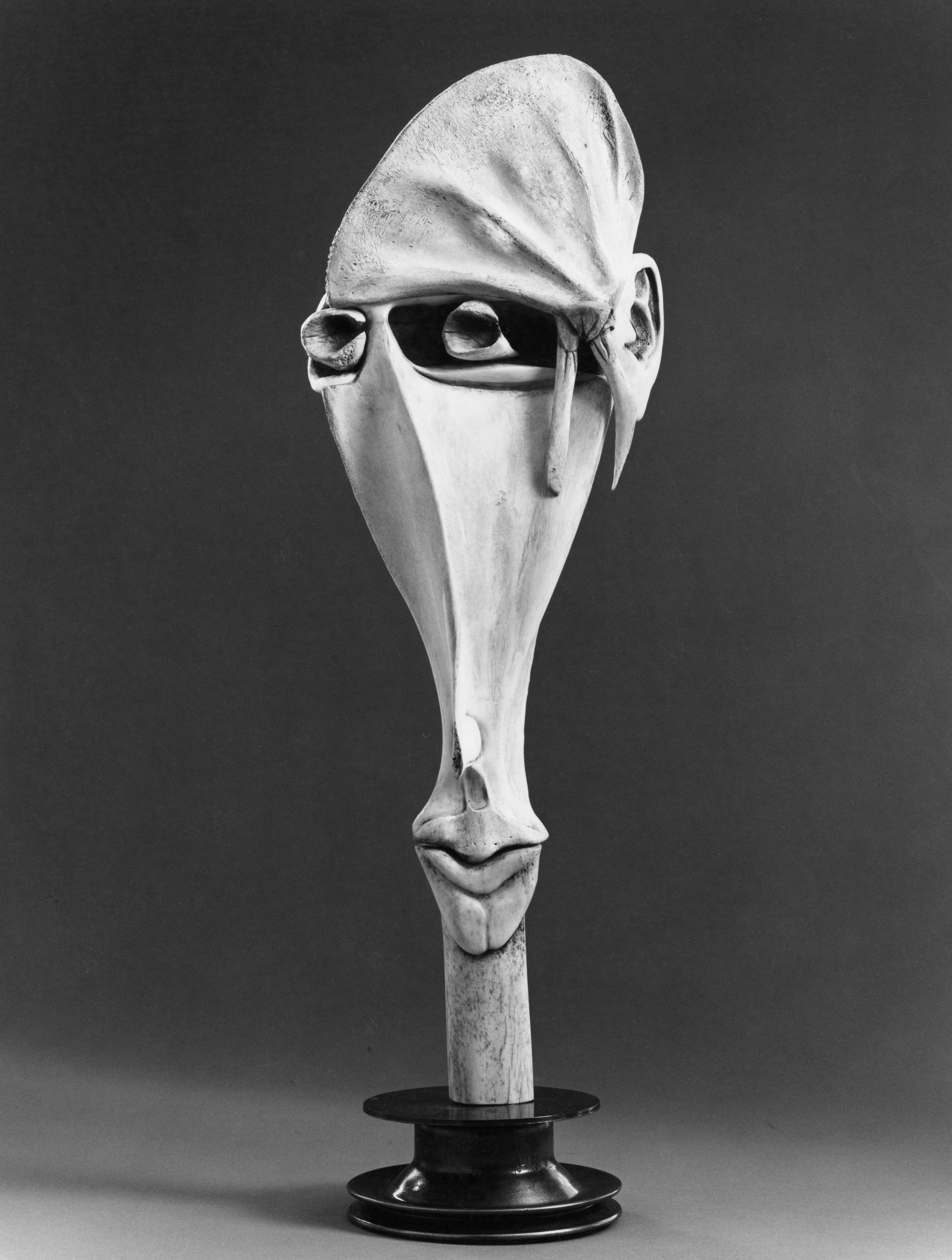 Face - Bone Sculpture by Jerry Hardin