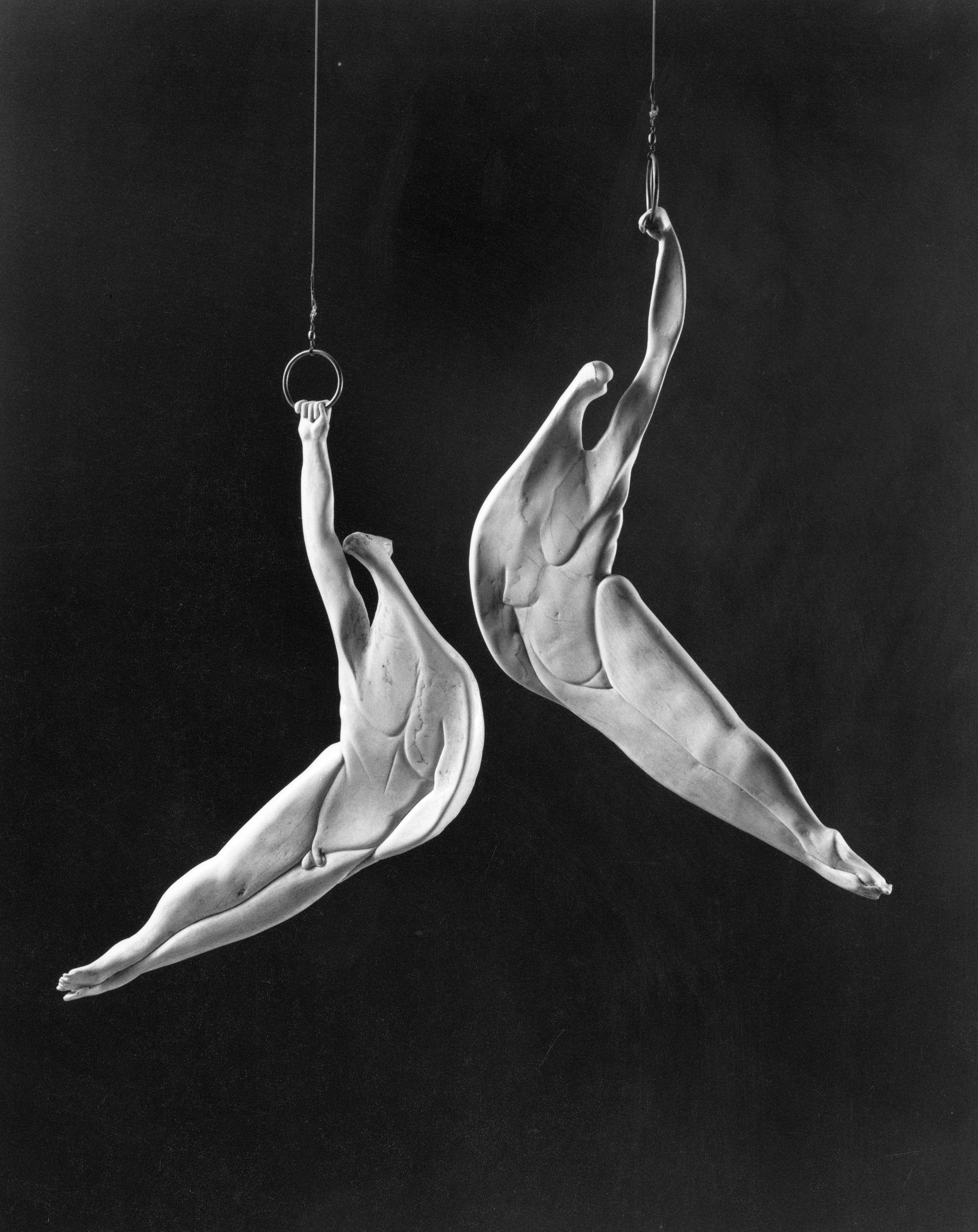 Acrobats II - Bone Sculpture by Jerry Hardin