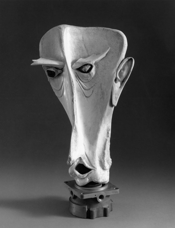 Unnamed Face - Bone Sculpture by Jerry Hardin