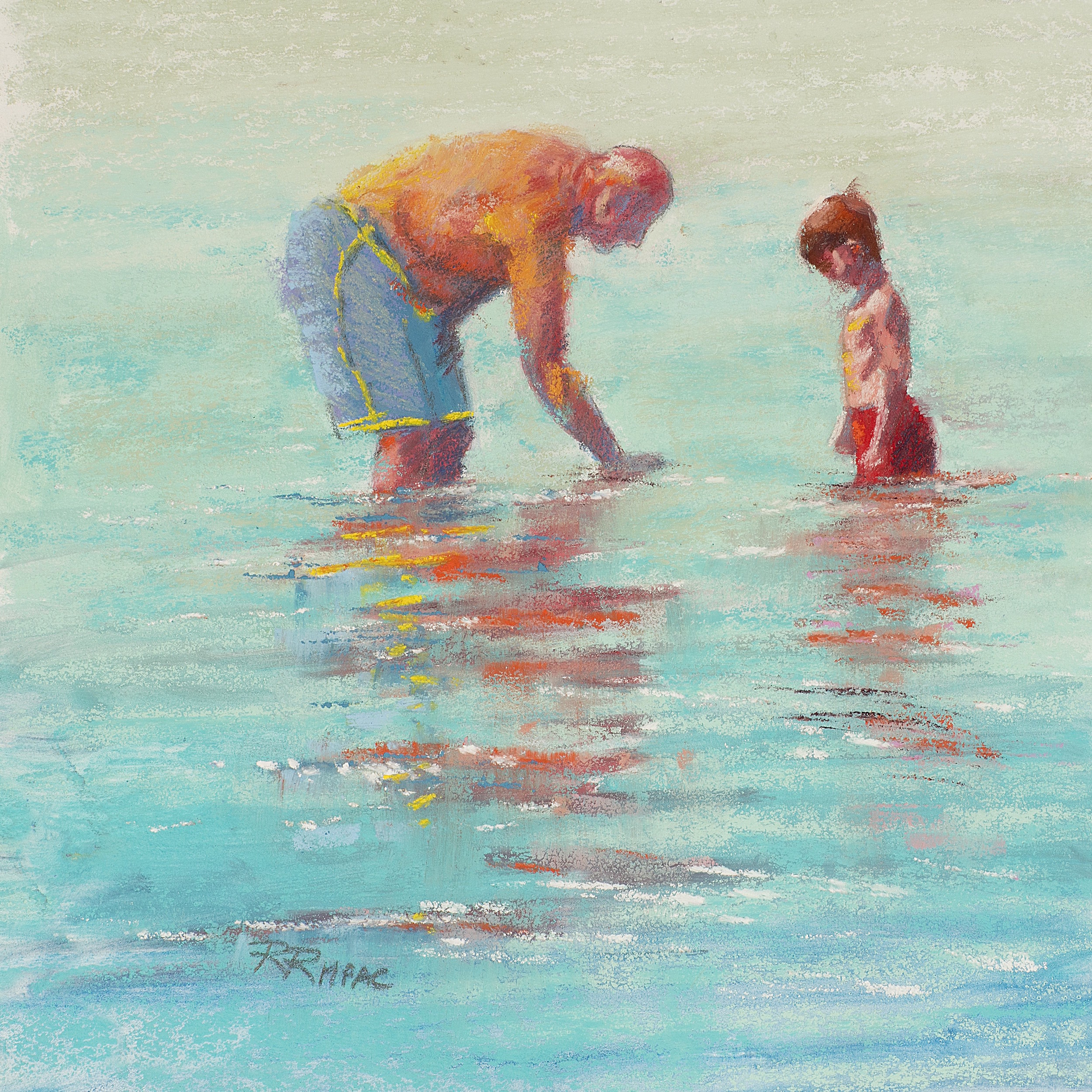 Summer Lessons pastel 8 x 8 framed $195; prints available