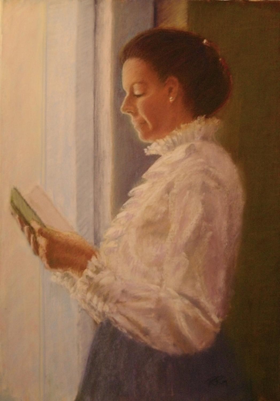 Morning Meditation, pastel on paper, $700 framed
