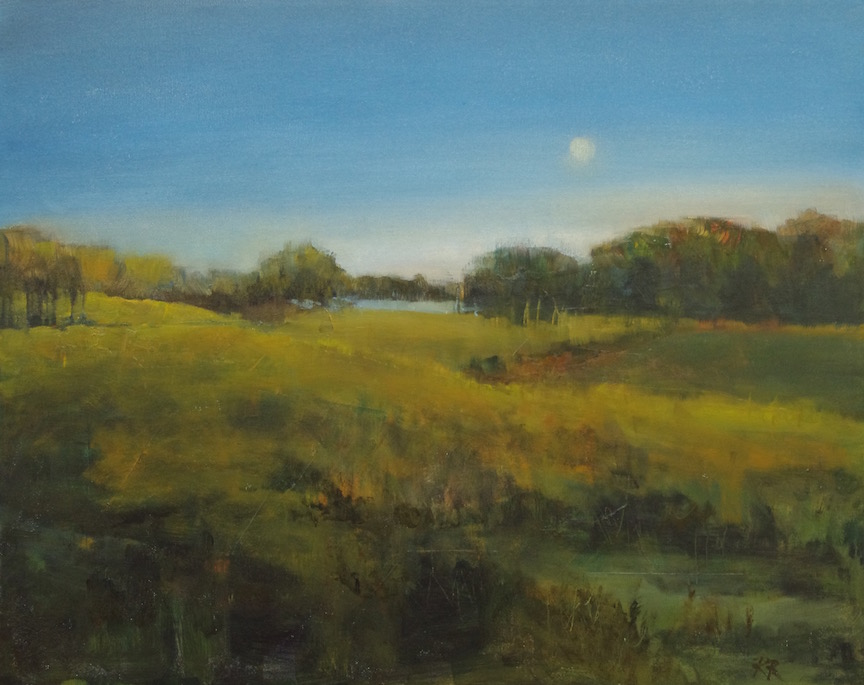 Twilight at the Flying U  16 x 20 oil on deep canvas framed $600