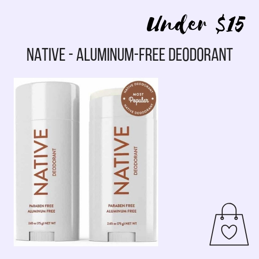 My friend Angie introduced me to Native deodorant, an aluminum-free alternative, and it works! The coconut & vanilla scent smells like a vacation. I gift this deodorant to friends and family all the time.