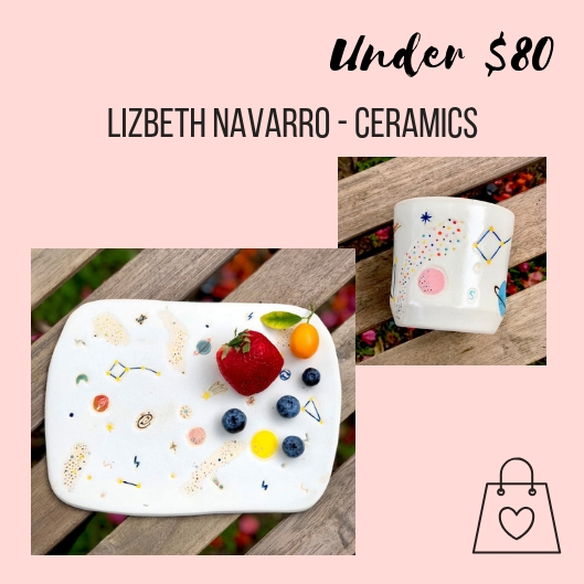 Lizbeth Navarro is a local artist creating one-of-a-kind ceramics. I discovered her work by searching the Renegade Craft roster. I'm fascinated by space and the cosmos, so I love her cosmos inspired ceramics.   Here   is more information about this year's event.