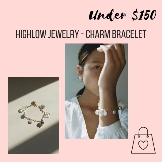I want to support local designers as much as possible. I love Sonya Gallardo's Highlow Jewelry brand. This mixed media charm bracelet is on my wish list.