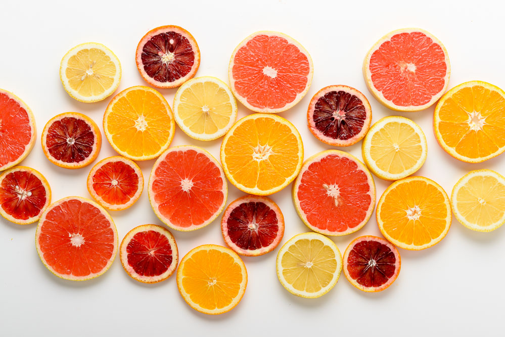 Arrangement of Citru Fruit Slices