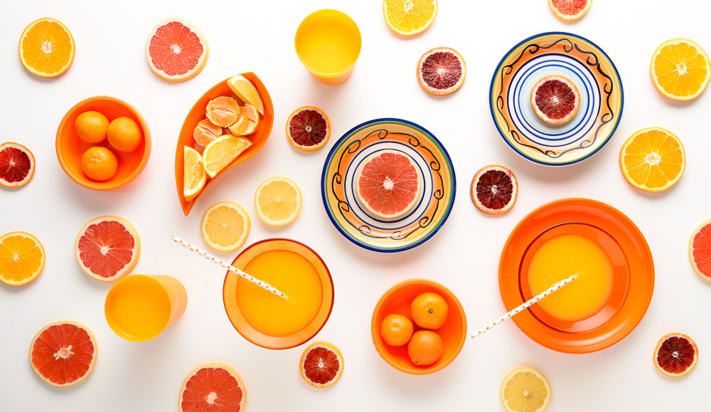 Arrangement of Citru Fruits