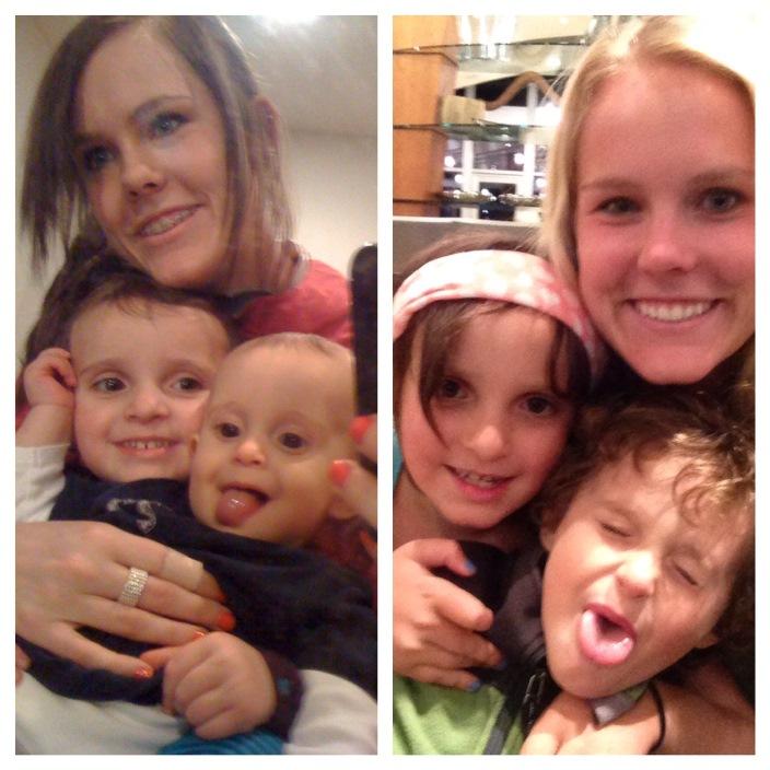 Marisa, Elle and Tag circa 2010 and 2014