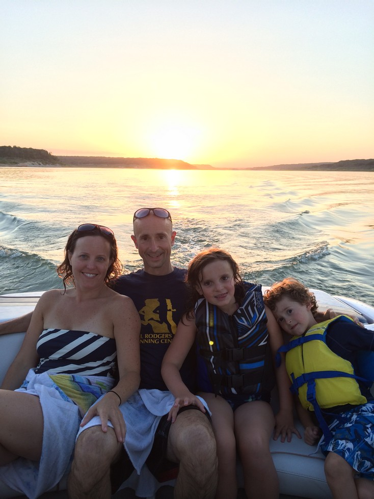 Sunset while cruising the Lake