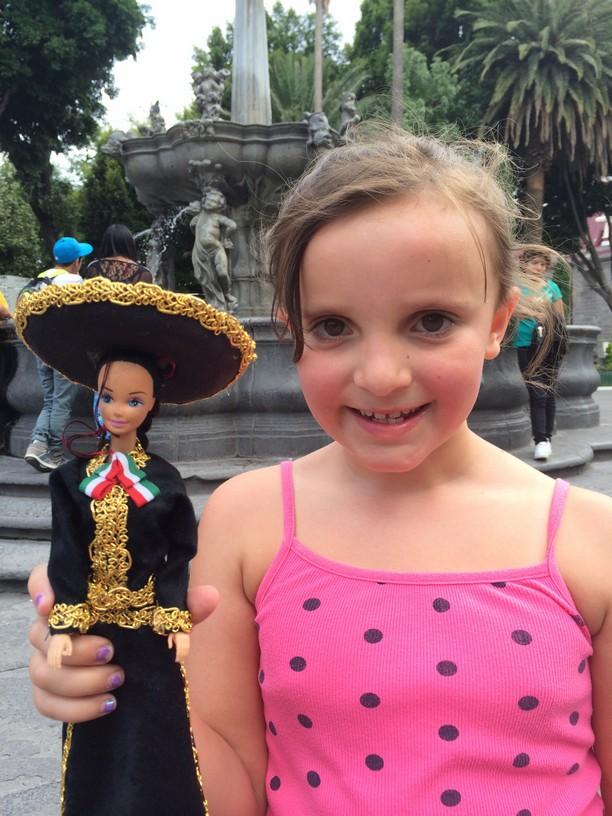 Elle with Senorita Barbie