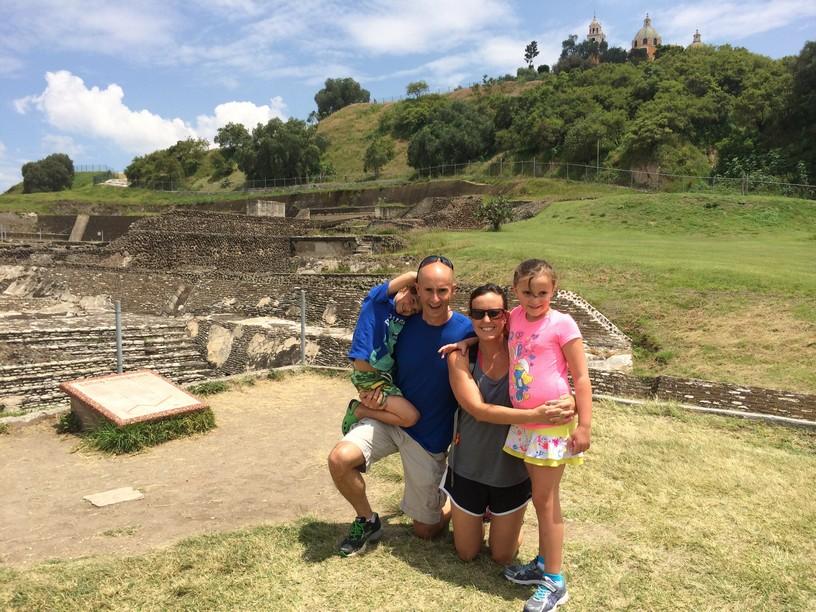 Family Pic at the Great Pyramid of Cholula