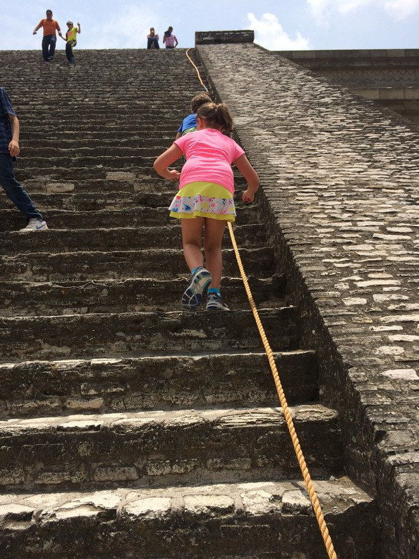 A rope for hand rails. The pyramid was steep.