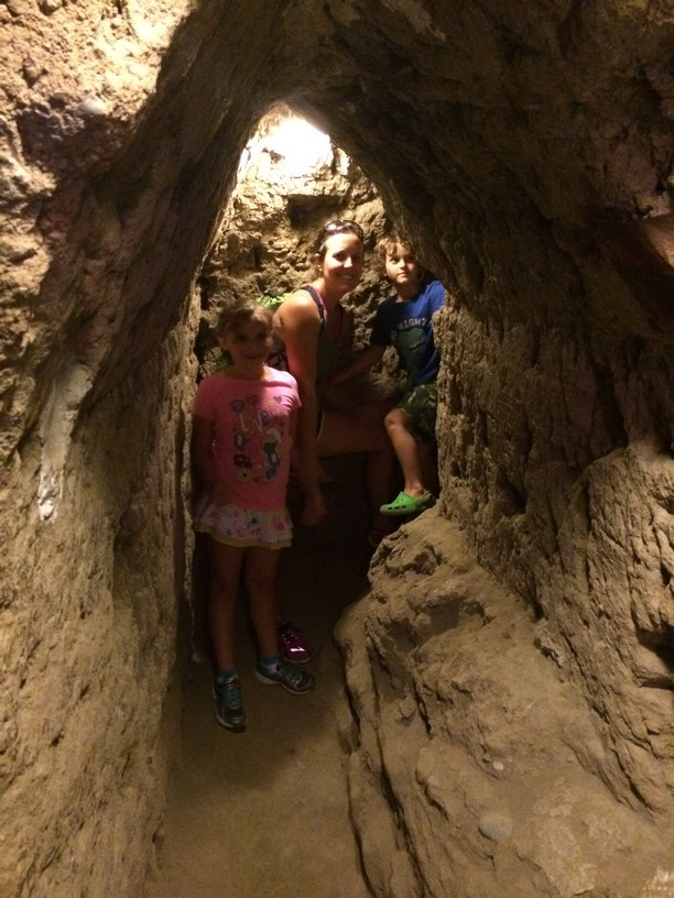 The tunnels were a bit claustrophobic (for Ken) but we made it through them