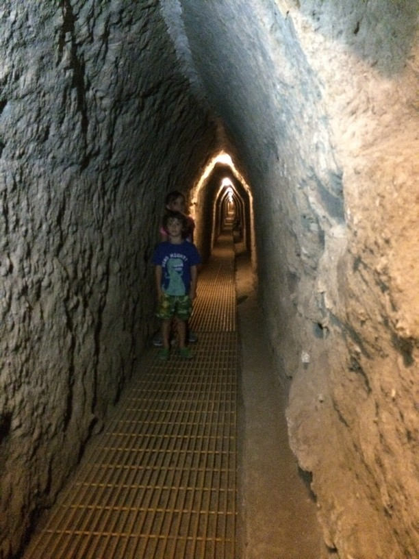 The tunnels went on and on. The people who built them were either really short or they banged their heads a lot.