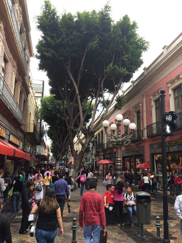 Side street off the Zocalo in Puebla, Mexico