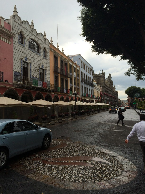 One of the main Streets around the Puebla Zocalo